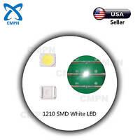 100Pcs 1210 3528 SMD LED Chip White Bright Light Lamp SMT Diodes Emitting Bulds
