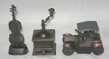 Pencil Sharpener Violin/1917 Car/Coffee Grinder Die cast