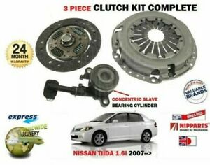 FOR NISSAN TIIDA 1.6 HR16DE SC11 C11 2007 > NEW CLUTCH PLATE COVER BEARING KIT