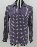 Casual Corner Annex Button Front Long Sleeves Shirt Top Size 6 Petite