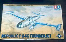 VINTAGE TAMIYA REPUBLIC F-84G THUNDERJET SCALE 1:48 #61060