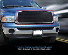 02-05 Dodge Ram Full Openning Black Billet Grille Grill Upper Insert 1 Pc Fedar