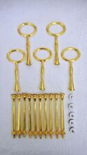 Cake Stand Fittings 5 x 3 Tier GOLD OVAL Handle Tidbit Hardware Tea Party DIY
