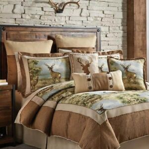 Crosilie Cold Springs Comforter 4 P Set  - 1 Comforter 2 Shams 1 Bed Skirt