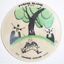 Compere Guilleri & Frere Jacques french PYGMO-PLUME 201 picture disc 78 rpm