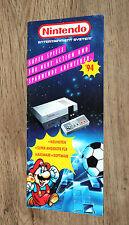 Nintendo Werbung Ad Flyer NES Yoshi's Cookie Kirby's Adventure Zelda Mario Super