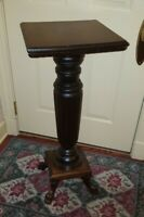 Antique Mahogany Claw/Paw Feet Wooden Fern Plant Stand Empire Style