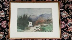 Watercolor on Paper Painting by Charles L Andrews