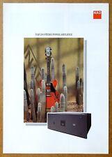 NAD ~ 208 Stereo Power Amplifier ~ VTG Brochure Catalog ~ Info, Specs