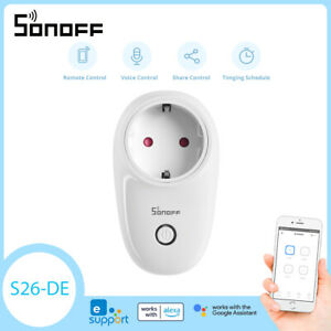 Sonoff S26 EU Smart Plug Steckdose Schalter WIFI APP Steuerung Timing Wireless