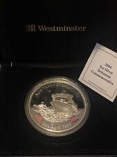 More details for 2004 5oz silver britannia commemorative coin. 5oz of .999 silver