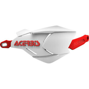 Acerbis  Mx X-Factory White Red Universal Dirt Bike Enduro Hand Guards