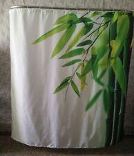 "Green Fresh Bamboo Leaf Pattern Shower Curtain Bathroom Waterproof Fabric 71"""