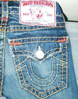 *HOT AUTHENTIC Men's TRUE RELIGION BILLY SUPER T -YW BOOTCUT Denim Jeans 27 x 29