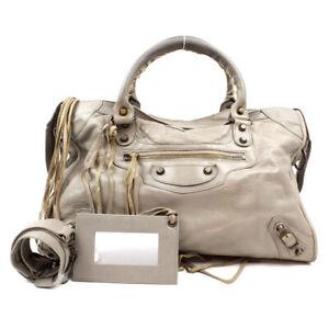 BALENCIAGA Classic Vero 2WAY Handbag Gray