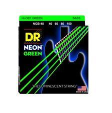 DR Strings NOB-40 Nickel Coated Hi-Def Green Bass Guitar Strings, Medium, 40-100
