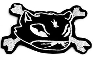 Cat Kitten Crossbone Collectable Sew Iron On Patches