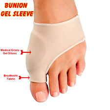 1 Pair Foot Bunion Sleeve Big Toe Silicone Gel Pad Metatarsal Joint Pain Support
