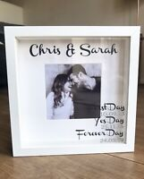 Personalised Wedding Anniversary Engagement Gift Frame First Day Yes Day Forever