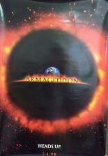 Armageddon Original Double Sided Movie Poster 1998 Bruce Willis Ben Affleck