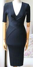 Nina Ricci plissée laine mélangée Midi robe moyen