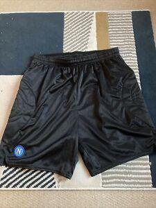 Napoli Diadora Goalkeeper Shorts Large Mens