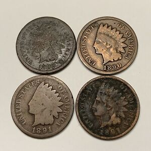Indian Head Cent Pennies Lot #402 (1800's)   FREE SHIPPING