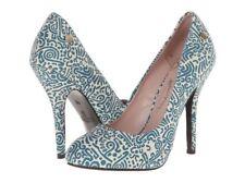 NIB Women's Vivienne Westwood Anglomania Maggie Petrol Heels Blue US 8