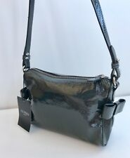 Hobbs Astrid Pewter Grey Patent Classic Handbag New with Tags