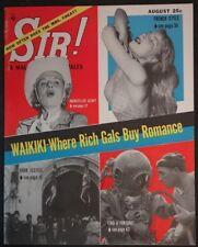 Sir! Aug 1956 Jack Ritchie 1st App.Hitler's Sex Obsession, Szokoli Art - High Gr