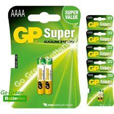 12 x GP AAAA 1.5V Alkaline Batteries MN2500 E96 GP25A LR61 25A Jabra Headset