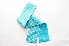 "COACH 100% Silk Ponytail Scarf Optical C Polka Dots - Turquoise 35"" x 2.5"""