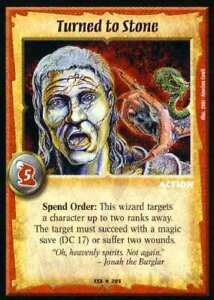 Warlord CCG - Warlord Saga of the Storm: Turned to Stone (Rare Action WSS)