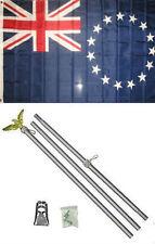 3x5 Cooks Island New Zealand Flag Aluminum Pole Kit Set 3'x5'