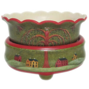 Willow Tree Ceramic Electric 2 in 1 Candle Tart Warmer Primitive Decor
