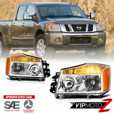 """NEW-GEN DESIGN"" Factory Style Headlights Lamps Pair For 2004-2015 Nissan Titan"