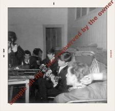 The Beatles PHOTO  1963 candid snapshot of LENNON & HARRISON BACKSTAGE