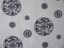 Leichter Stoff mit chinesischem Glückszeichen und Drachen 100 % Baumwolle
