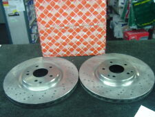 MERCEDES SLK350  FRONT PERFORMANCE DRILLED BRAKE DISCS 330MM
