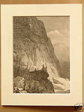 CLEAR CREEK CANYON  ROCKIES 1 OF 2 USA ANTIQUE ENGRAVING FROM 1876 PUBLICATION