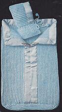 Vintage Knitting PATTERN to make Baby Sleeping Bag Zipper Bunting Hat Hood BabyB