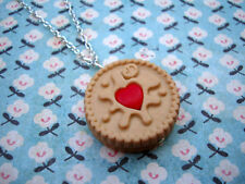 Funky Jammie Dodger Necklace Cute Kitsch KAWAII Heart Biscuit Sweet Junk Food UK