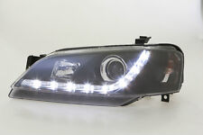 Ford Falcon BA Sedan Ute Wagon DRL Like LED Black Projector Headlights XT Futura