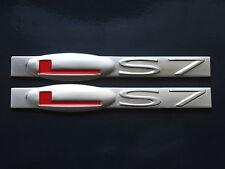 C6 Corvette Z06 HSV W427 LS7 Engine Fender Badge Pair (2 colors)