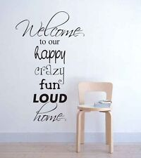 Wall stickers Playroom Rules crazy home Decal Removable Art Vinyl Decor Kids