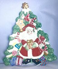 Fitz and Floyd 2000 Candy Lane Canape Plate Unused Christmas