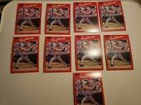 1990 Donruss #145 TOM GLAVINE - ERROR no dot after INC - Lot of 9 - Braves