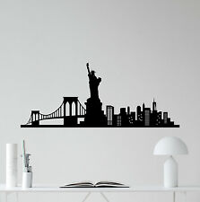 New York Skyline Wall Decal Statue Liberty Vinyl Sticker Art Decor Mural 29thn