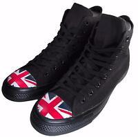 Converse Chuck Taylor All Star Flag Toe UK British England Black Hi Top 153910C