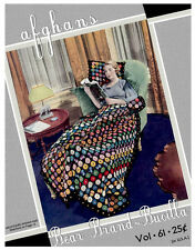 Bear Brand & Bucilla #61 c.1931 - Patterns to Make Vintage Crocheted Afghans